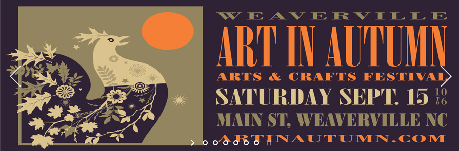 Weaverville Art in Autumn, Weaverville, NC  Sept. 15, 2018